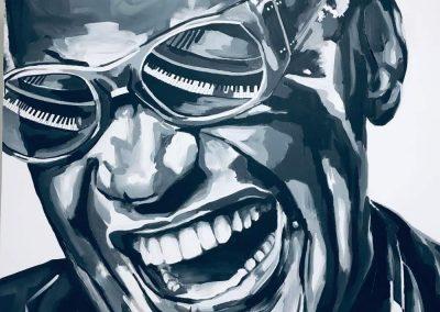 RAY CHARLES (100 x 100) - Vendu